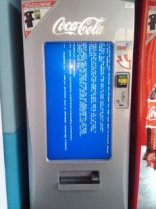 Coke machine runs on Windows