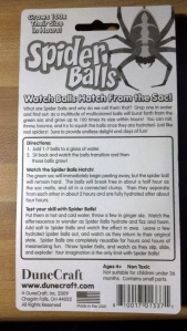 Spider Balls package - back