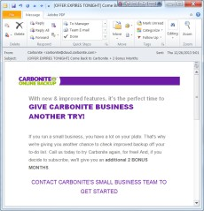 Email from Carbonite. Again.