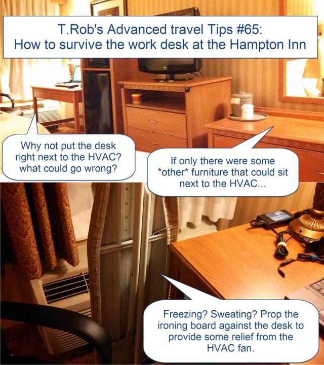 Stupid room layout at Hampton Inn