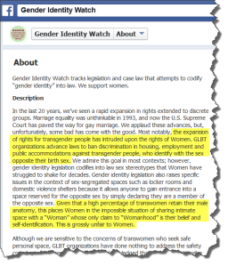 Gender Identity Watch About page - Click for full image